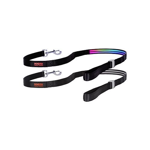 DOGlite LED Leash Northern Lite Medium (135cm) with Dual Control Handle