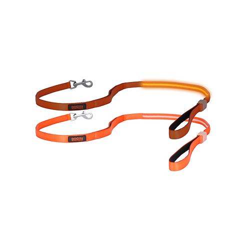 DOGlite LED Leash Orange Sunset Small (120cm) with Dual Control Handle