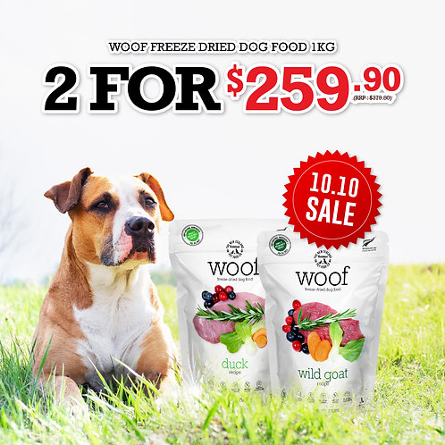 Woof Freeze Dried Dog Food 1kg