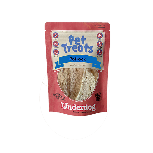 Underdog Pet Treats - Pollock (Fish)
