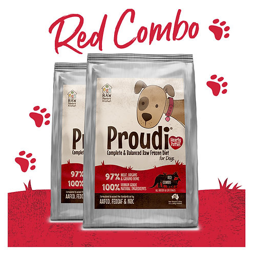 Proudi® Raw Food for Dogs-Red Combo