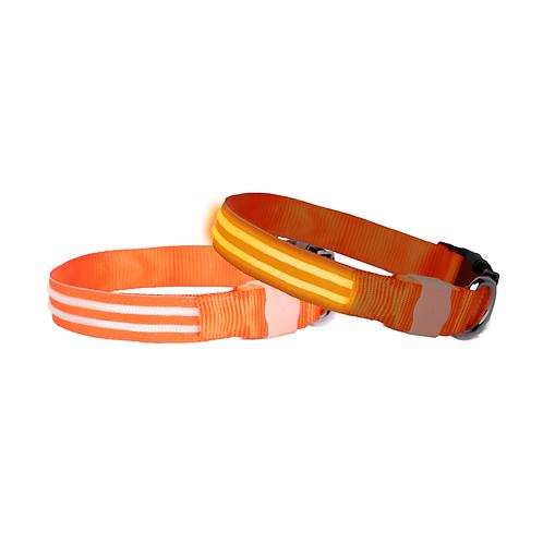DOGlite LED Collar Medium (38-50cm) Orange Sunset
