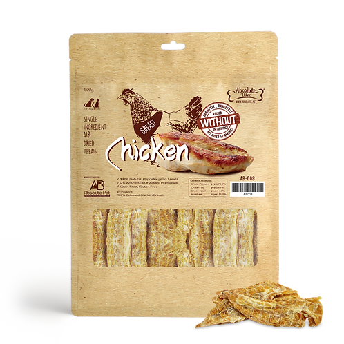 Absolute Bites Air Dried - Chicken Breast 500g