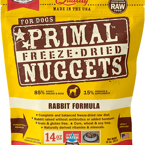 Primal Freeze Dried Nuggets - Rabbit Formula (1 for $66; 2 for $129.90)