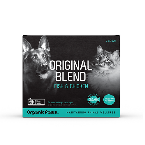 Organic Paws Original Blend - Fish & Chicken (8x275g)