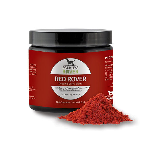 IN STOCK: Four Leaf Rover-Red Rover: Organic Berries for Dogs