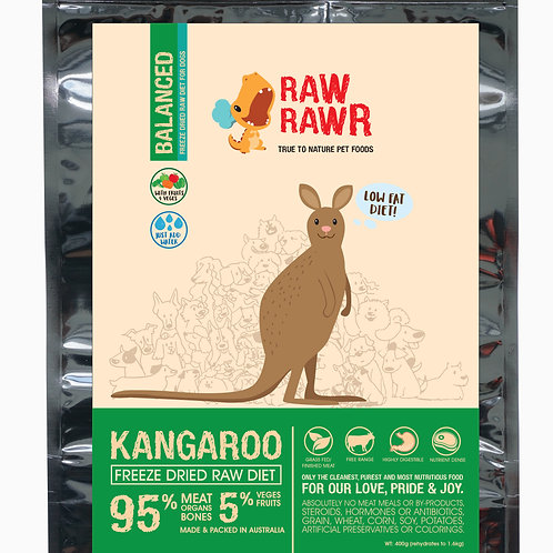 Raw Rawr Kangaroo Balanced Freeze Dried Raw Diet