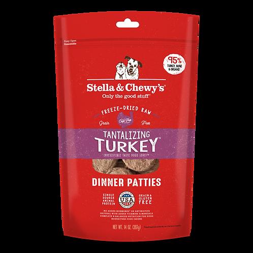 Stella & Chewy's Dinner Patties (14oz) - Tantalizing Turkey
