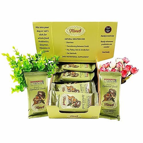 CARNA4: Flora4 Ground Sprouted Seeds Food Topper (By Packs/Box)