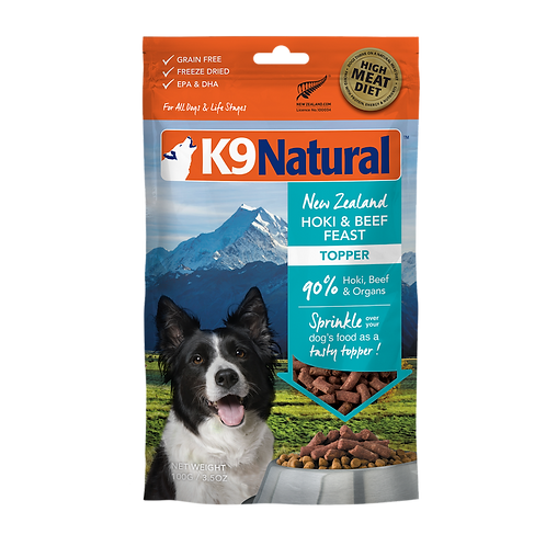 K9 Natural Freeze Dried - Hoki & Beef Topper 142g