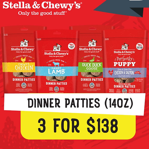 Stella & Chewy's Bundle Deal : 14 oz Dinner Patties (3 for $138)