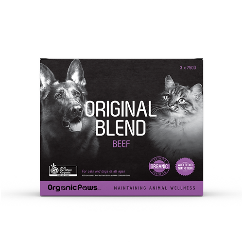 Organic Paws Original Blend - Beef (8x275g)