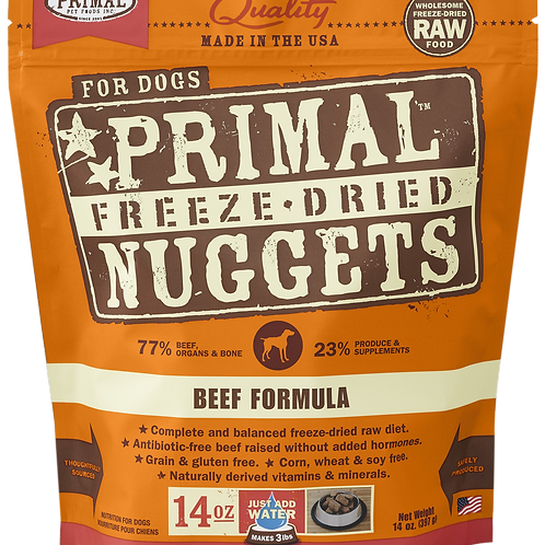 Primal Freeze Dried Nuggets 14oz - Beef Formula (2 for $88; 4 for $159.90)