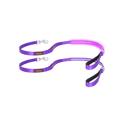 DOGlite LED Leash Purple Dusk Small (120cm) with Dual Control Handle