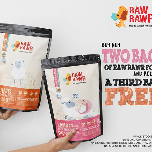 Buy 2 get 1 Free: Raw Rawr Frozen Venison Raw (12 x100g)