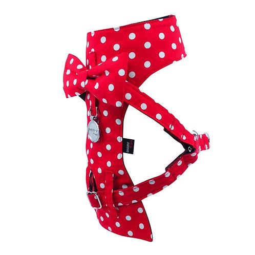 Dharf Dog Harness-Red Polka Dot