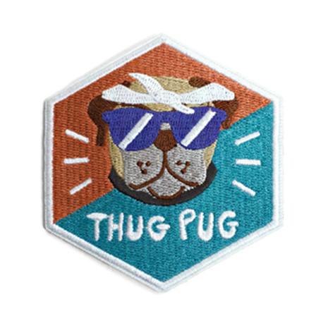 Zee.Dog Thug Pug Patch