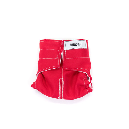 Dundies All In One Nappy-Red (AIO)