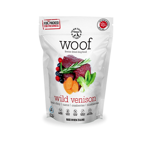 WOOF - Freeze Dried Raw Wild Venison (280g/1.2kg)
