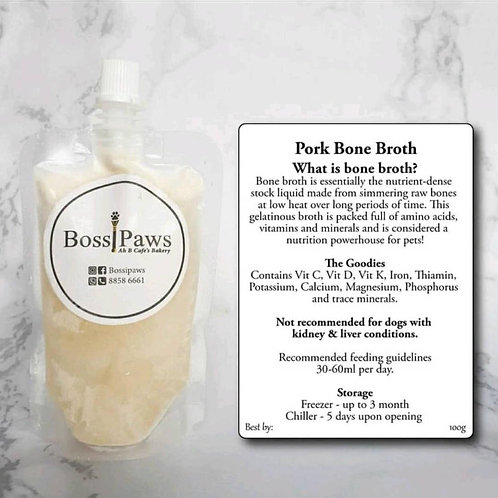 Pre-order: Ah B Cafe/Bossipaws: Pork Bone Broth (Original) 100ml x5