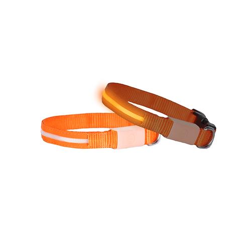 DOGlite LED Collar Small (33-43cm) Orange Sunset