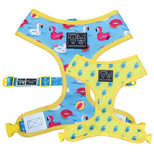 Big & Little Dogs Reversible Harness-Pool Party