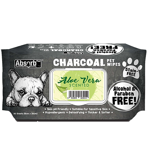 (Buy 3 for $13.50) Absorb Plus Charcoal Pet Wipes 80pcs