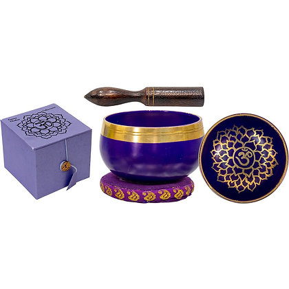 Mini Chakra Singing Bowl Purple - Crown Chakra