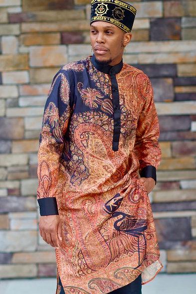 SABAA Silk Paisley Longline Shirt