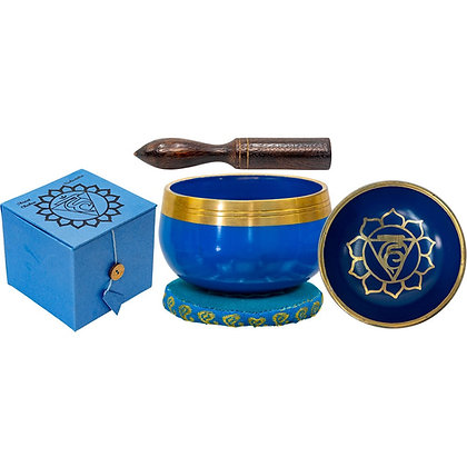 Mini Chakra Singing Bowl Blue - Throat Chakra