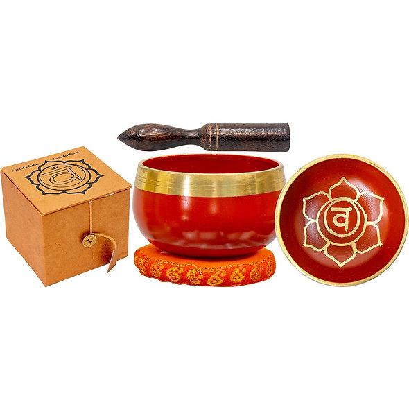 Mini Chakra Singing Bowl Orange - Sacral Chakra