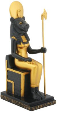 Ancient Egyptian Sitting Egyptian Sekhmet Statue