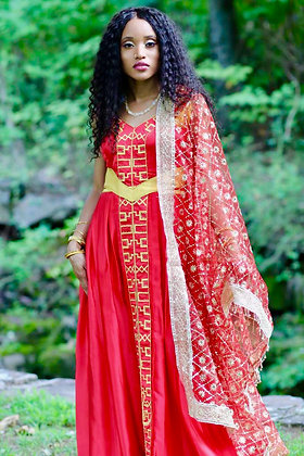 Scarlet Red Sacred Feminine Dress