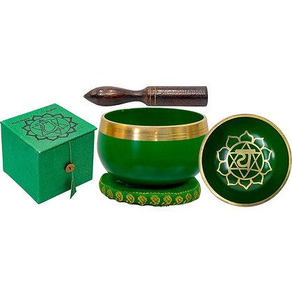 Mini Chakra Singing Bowl Green - Heart Chakra