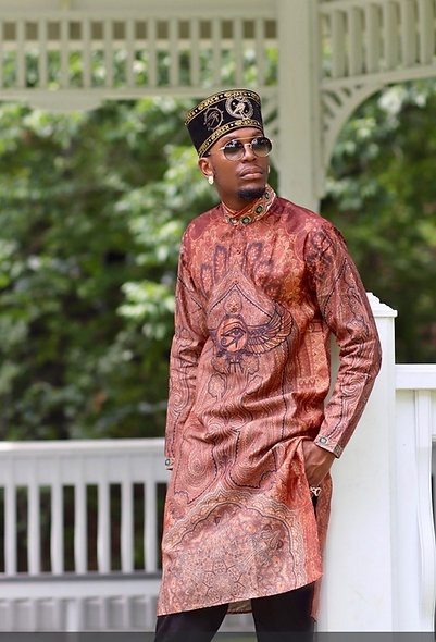 SABAA Wings of Protection Paisley Longline Shirt