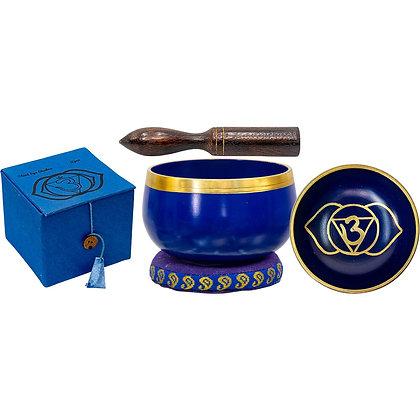 Mini Chakra Singing Bowl Cobalt - Third Eye Chakra