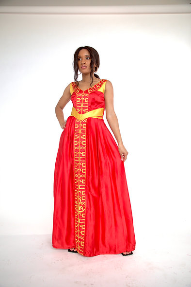 Scarlet Red Sacred Feminine Dress