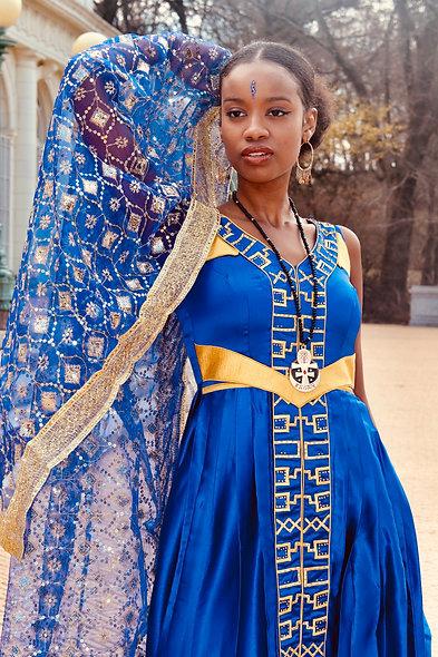 Royal Blue Sacred Feminine Dress