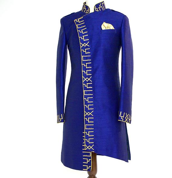 SABAA Divine Masculine Silk Jacket (BlackLight)