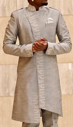 Silver SABAA Divine Masculine Silk Jacket