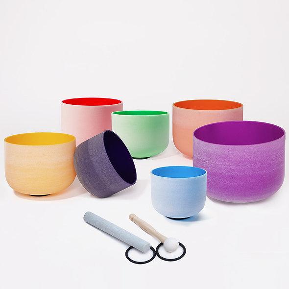 7 CHAKRA Crystal Singing Bowls