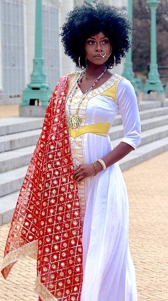 Sacred Feminine Dress with Quarter Length Sleeve