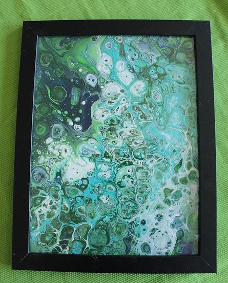 """Ocean 10.5x13.5"""" framed"""