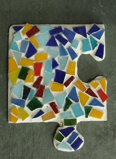 Puzzle Piece Mosaic Magnet
