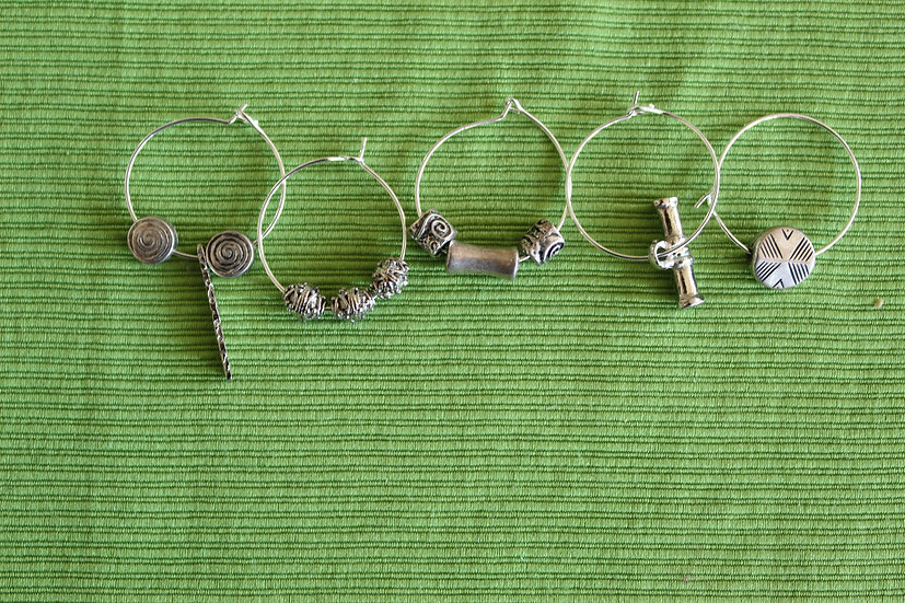 Petite Silver Wine Charms
