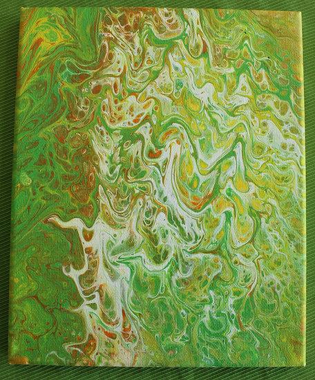 Green 8x10 canvas
