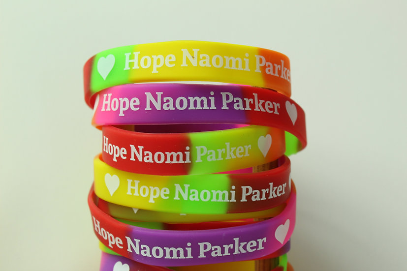 Hope Parker rubber wristband