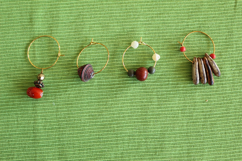 Red Wine Charms