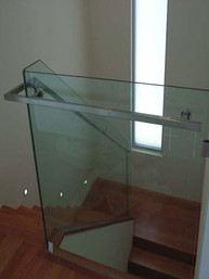timber stairs and glass balustrades based in sydney image