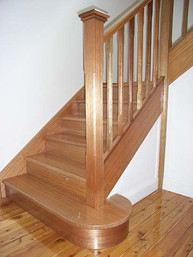 Timber balustrade and staircase design by Budget Stairs